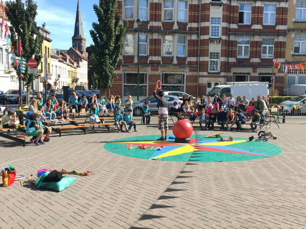 mobiliteitsweek circus workshop scholen